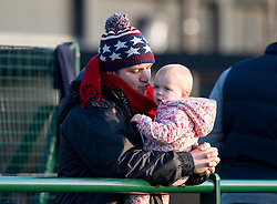Spectator at SGS Wise Campus for Premiership Academy U18 League rugby - Mandatory by-line: Paul Knight/JMP - 21/01/2017 - RUGBY - SGS Wise Campus - Bristol, England - Bristol Academy U18 v Saracens Academy U18 - Premiership Rugby Academy U18 League