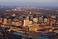 The twin cities of St. Paul & Minneapolis, Minnesota.