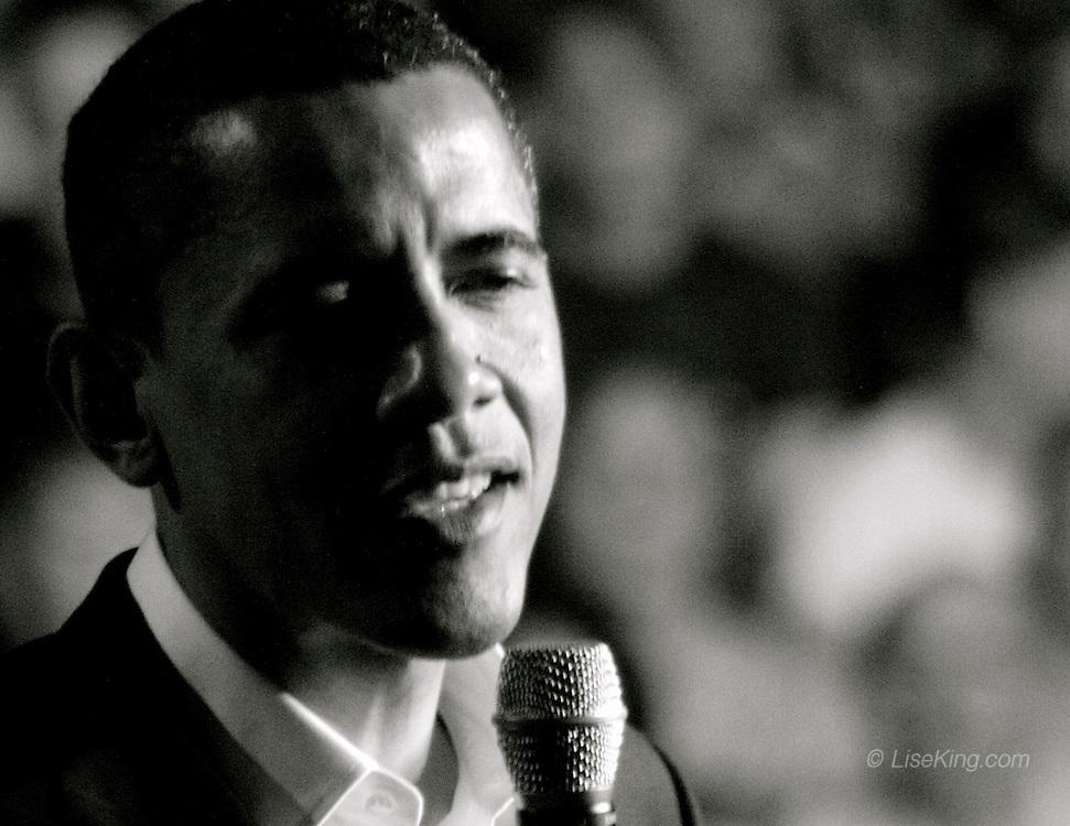 Senator Barack Obama on the campaign trail, August, 2008.