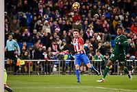 Atletico de Madrid's Saúl Ñígez and Real Betis's Ryan Donk during La Liga match between Atletico de Madrid and Real Betis at Vicente Calderon Stadium in Madrid, Spain. January 14, 2017. (ALTERPHOTOS/BorjaB.Hojas)
