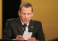 27 August 2007: Lance Armstrong speaks at the opening of the LIVESTRONG Presidential Cancer Forum in Cedar Rapids, Iowa on August 27, 2007.