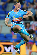 GOLD COAST, AUSTRALIA - APRIL 14:  (Editors Note: Image is a retransmission of an earlier send with an alternative crop) Mark Minichiello of the Titans celebrates a try during the round six NRL match between the Gold Coast Titans and the Parramatta Eels at Skilled Park on April 14, 2013 on the Gold Coast, Australia.  (Photo by Matt Roberts/Getty Images)
