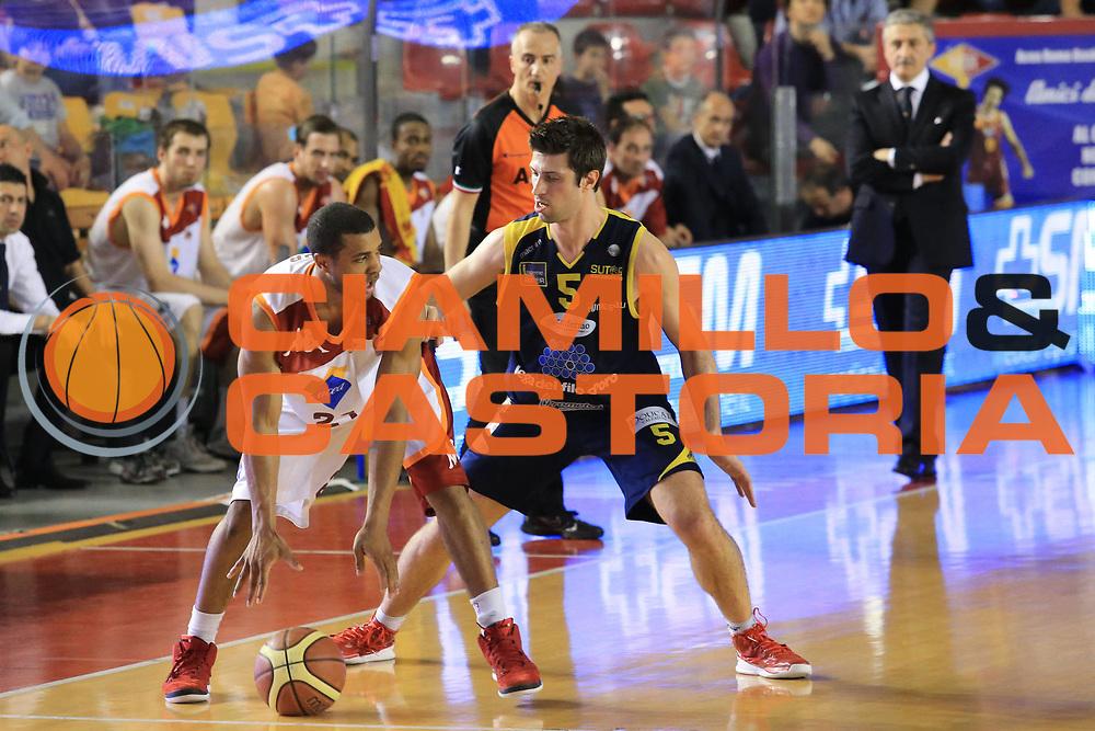 DESCRIZIONE : Roma Lega A 2012-2013 Acea Roma Sutor Montegranaro<br /> GIOCATORE : Jordan Taylor<br /> CATEGORIA : controcampo difesa<br /> SQUADRA : Acea Roma<br /> EVENTO : Campionato Lega A 2012-2013 <br /> GARA : Acea Roma Sutor Montegranaro<br /> DATA : 05/05/2013<br /> SPORT : Pallacanestro <br /> AUTORE : Agenzia Ciamillo-Castoria/M.Simoni<br /> Galleria : Lega Basket A 2012-2013  <br /> Fotonotizia : Roma Lega A 2012-2013 Acea Roma Sutor Montegranaro<br /> Predefinita :
