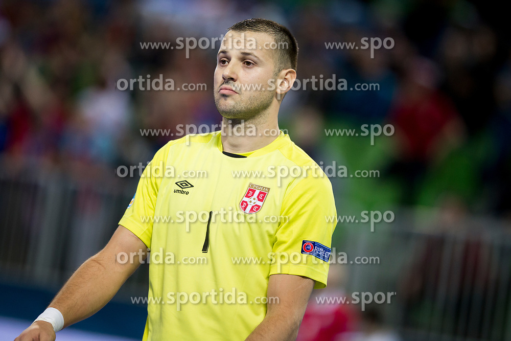 during futsal match between Serbia and Italy at Day 3 of UEFA Futsal EURO 2018, on February 1, 2018 in Arena Stozice, Ljubljana, Slovenia. Photo by Urban Urbanc / Sportida