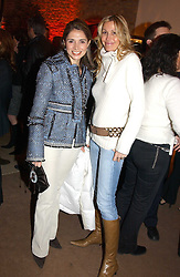 Left to right, ROLA GORDON and MELISSA ODABASH at a party to celebrate the 2nd anniversary of Quintessentially magazine held at Asprey, Bond Street, London on 24th February 2005.<br />