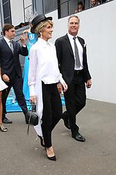 AU_1391515 - Melbourne, AUSTRALIA  -  AAMI Victoria Derby Day celebrities and VIPs in the Birdcage.<br /> <br /> Pictured: Julie Bishop, David Panton<br /> <br /> BACKGRID Australia 3 NOVEMBER 2018 <br /> <br /> BYLINE MUST READ: Richard Milnes / BACKGRID<br /> <br /> Phone: + 61 2 8719 0598<br /> Email:  photos@backgrid.com.au