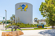 UCI Water Tower and Campus Mascot Sculpture