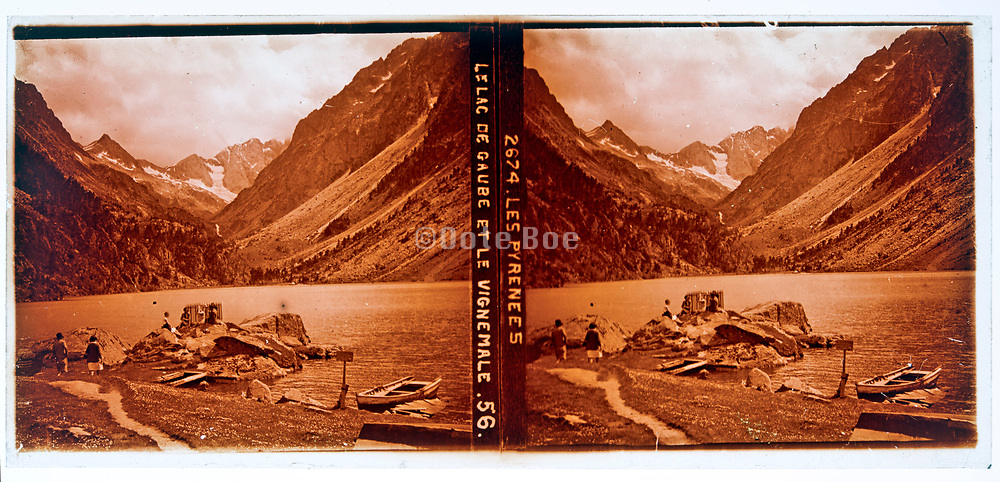 Pyrenees Lake De Daube at Le Vignemable circa 1920s