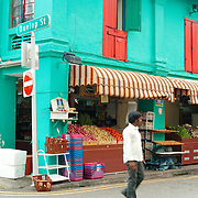 Market street in Little India, Singapore,