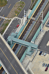 Railroad Station at Fairfield Metro Center. Owner: Connecticut Department of Transportation. Serving Metro-North Commuter Railroad.