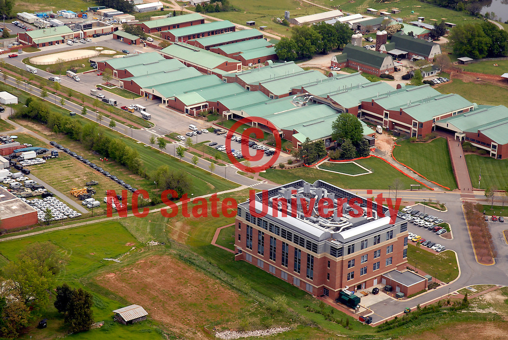 Aerial view of the vet school.