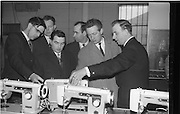 07/02/1964<br /> 02/07/1964<br /> 07 February 1964<br /> Tour of Brother International Factory at Santry, Co. Dublin. Included are Mr W. Goodwin, (Portarlington); Mr J. Sweeney (Grahams); Mr P. Finnegan (Bailieboro); Mr C.J. Magian (Sewing Machine Centre); Mr E. Roche (Arnotts) and Mr J. Quinn, Works Manager.