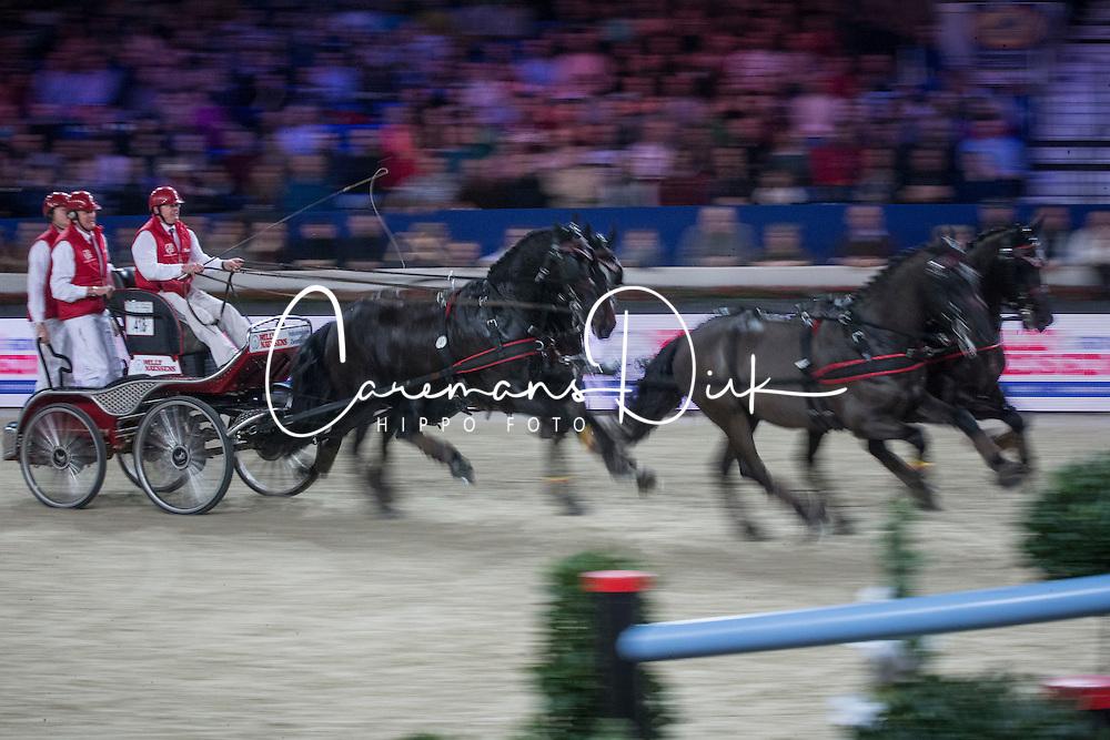 Schrijvers Gert (BEL)<br /> FEI World Cup Driving<br /> Flanders Christmas Jumping - Mechelen 2012<br /> © Dirk Caremans