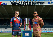 Picture by Allan McKenzie/SWpix.com - 14/05/2018 - Rugby League - Dacia Magic Weekend 2018 Preview - St James Park, Newcastle, England - Wakefield's Tom Johnstone & Huddersfield's Sebastine Ikahihifo.