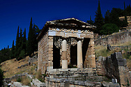 The Athenian Treasury at Delphi, Greece<br />