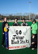 Fans of the junior Black Sticks, Junior Black Sticks Men vs Malaysia Juniors international Under 21 Hockey, 7 June 2011, Alexander McMillan Hockey Centre Dunedin, New Zealand. Photo: Richard Hood/photosport.co.nz