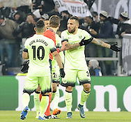 Nicolas Otamendi of Manchester City complains to the referee after Juventus score their first goal during the UEFA Champions League match at Juventus Stadium, Turin<br /> Picture by Stefano Gnech/Stella Pictures Ltd +39 333 1641678<br /> 25/11/2015