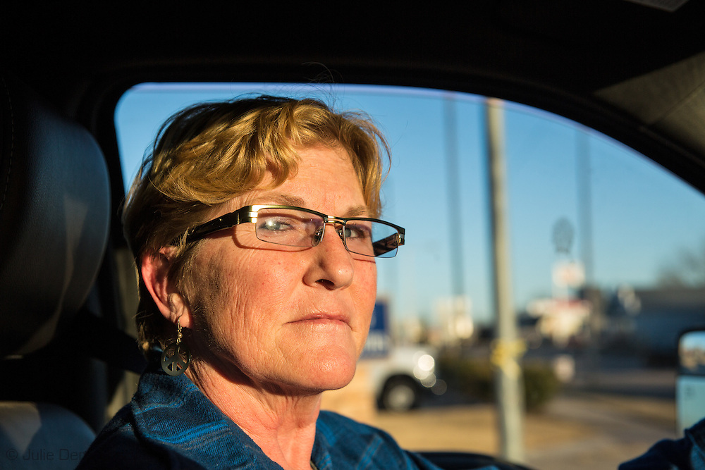 1/13/2016, Angela Spotts, the founder of Stop Fracking Payne County and a Stillwater homeowner in Cushing, Oklahoma. Spotts is an anti-fracking activist who share information on the fracking industry with concerned citizens and the media.