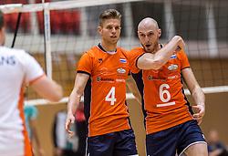04-06-2016 NED: Nederland - Duitsland, Doetinchem<br /> Nederland speelt de tweede oefenwedstrijd in Doetinchem en verslaat Duitsland opnieuw met 3-1 / Thijs ter Horst #4, Jasper Diefenbach #6