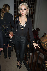 NINA NESBITT at a gala dinner to celebrate 15 Years of mothers2mothers hosted by Annie Lennox held at One Marylebone, 1 Marylebone Road, London NW1on 3rd November 2015.