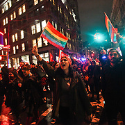 November 8, 2016 - New York, USA - Nearly 7,500 protesters against the election of Donald Trump gathered to voice their discontent in Union Square followed by a march to Trump Tower in Manhattan on Wednesday, November 9, 2016.  Credit: Byron Smith (Credit Image: © Byron Smith/ZUMA Wire)