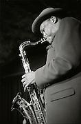 Live music: Joe Malinga, saxophone, live at La Spirale. © Romano P. Riedo