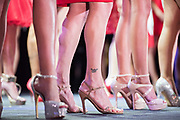 LOS ANGELES, CA - OCTOBER 22, 2016:  <br /> <br /> An ankle tattoo on Vanice Vega (Oaklahoma) at the Transnation Queen USA 2016 pageant, a transgender beauty pageant held at The Theater at The Ace Hotel in downtown Los Angeles.<br /> <br /> (Melissa Lyttle for The Guardian)