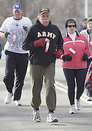 Middletown, NY  - Runners race in the Orange Runners Club Winter Series 5K road race on Jan. 27, 2008.
