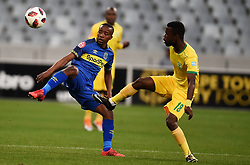 Cape Town-180818 Cape Town City midfielder habo Nodada challenged  by Knox Mutizwa of Golden Arrows in a PSL match at Cape Town Stadium .photograph:Phando Jikelo/African News Agency/ANA