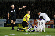 Burton Albion striker Chris O'Grady (8) is fouled during the EFL Sky Bet Championship match between Burton Albion and Newcastle United at the Pirelli Stadium, Burton upon Trent, England on 17 December 2016. Photo by Richard Holmes.