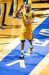 Feb 18, 2017; Morgantown, WV, USA; West Virginia Mountaineers guard Jevon Carter (2) is introduced and runs onto the court prior to their game against the Texas Tech Red Raiders at WVU Coliseum. Mandatory Credit: Ben Queen-USA TODAY Sports
