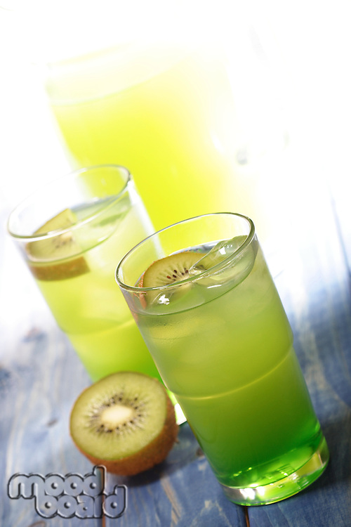 Close upof kiwi drink - studio shot