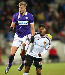 29.01.2016, Generali Arena, Wien, AUT, Testspiel, FK Austria Wien vs FC Basel, im Bild Alexander Gruenwald (FK Austria Wien) und Jean Paul Boetius (FC Basel) // during a preperation Football Match between FK Austria Wien vs FC Basel at the Generali Arena in Vienna, Austria on 2016/01/29. EXPA Pictures © 2016, PhotoCredit: EXPA/ Thomas Haumer