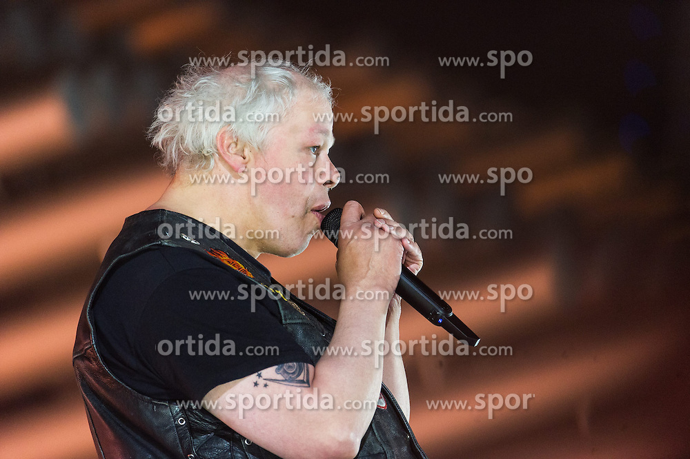 18.05.2015, Stadthalle, Wien, AUT, Eurovision Songcontest Vienna 2015, Kostümrpobe des Ersten Semifinales, im Bild Pertti Kurikan Nimpäivät aus Finnland // Pertti Kurikan Nimpäivät from Finland during dress rehearsal of the 1st semi final for Eurivision Songcontest Vienna 2015 at Stadthalle in Vienna, Austria on 2015/05/18, EXPA Pictures © 2015, PhotoCredit: EXPA/ Michael Gruber