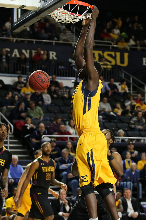 December 10, 2017 - Johnson City, Tennessee - Freedom Hall: ETSU center Peter Jurkin (5)<br /> <br /> Image Credit: Dakota Hamilton/ETSU