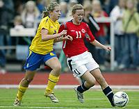 Fotball<br /> Landskamp J15/16 år<br /> Tidenes første landskamp for dette alderstrinnet<br /> Sverige v Norge 1-3<br /> Steungsund<br /> 11.10.2006<br /> Foto: Anders Hoven, Digitalsport<br /> <br /> Kristine Hegland - Tertnes / Norge<br /> Camilla Alfredsson - Sverige