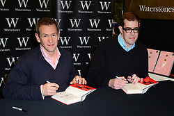 Alexander Armstrong (L) and Richard Osman (R) attend book signing. Stars of hit BBC series Pointless sign copies of their book The 100 Most Pointless Arguments in the World at Waterstones Leadenhall Market, Whittington Avenue, London, United Kingdom. Wednesday, 11th December 2013. Picture by Nils Jorgensen / i-Images
