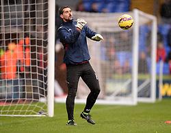 Crystal Palace's Julian Speroni warms up. - Photo mandatory by-line: Alex James/JMP - Mobile: 07966 386802 - 23/11/2014 - Sport - Football - London -  - Crystal palace  v Liverpool - Barclays Premier League