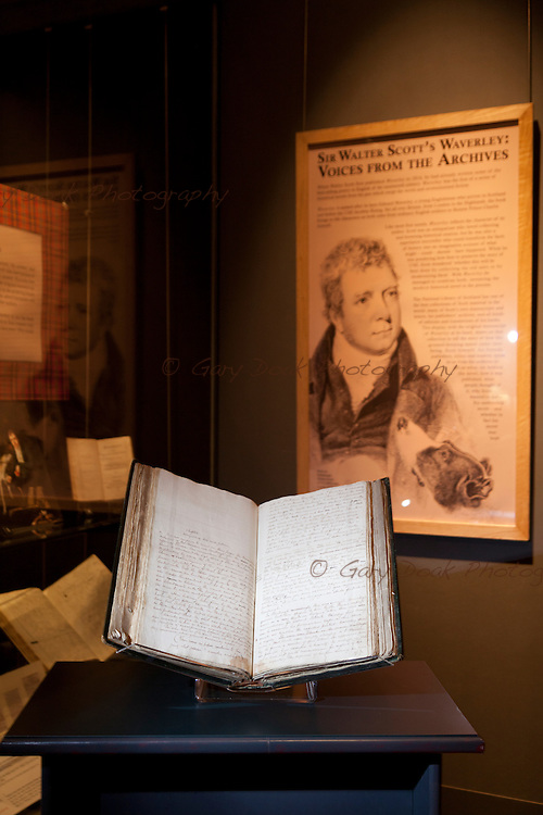 The original manuscript of Sir Walter Scott's 'Waverley' - fiction's first global bestseller - goes on display today at the National Library of Scotland in Edinburgh. 10th September 2014. © Gary Doak Photography
