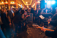 Music in Leadenhall market on a Thursday night.