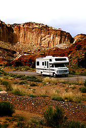Utah: RV Travel, lifestyle, vacation, vertical scenic landscape  .Photo copyright Lee Foster, www.fostertravel.com..Photo #: rvlife104, 510/549-2202, lee@fostertravel.com.
