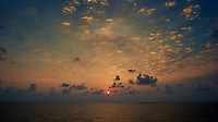 Sunrise over the Caribbean Sea. Image taken with a Nikon D3s camera and 24 mm lens (ISO 200, 24 mm, f/16, 1/60 sec.