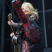 WASHINGTON, DC - July 4, 2015 - Nancy Wilson of Heart performs  at the Foo Fighters 20th Anniversary Blowout at RFK Stadium in Washington, D.C. (Photo by Kyle Gustafson / For The Washington Post)