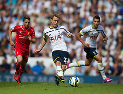 LONDON, ENGLAND - Sunday, August 31, 2014: Tottenham Hotspur's Christian Eriksen in action against Liverpool during the Premier League match at White Hart Lane. (Pic by David Rawcliffe/Propaganda)