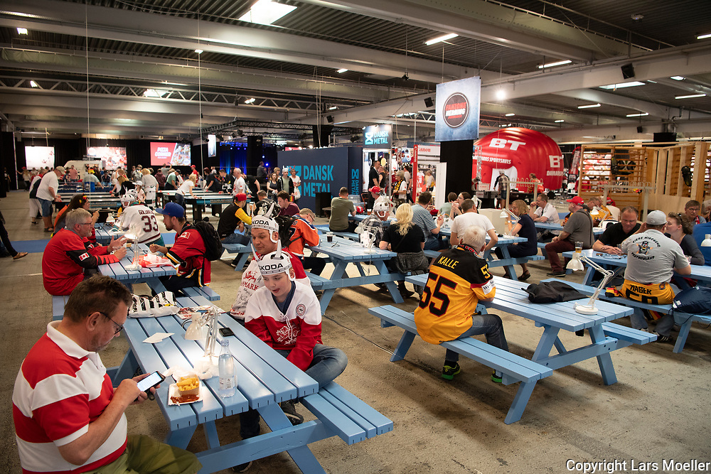 DK caption:<br /> 20180507, Herning, Danmark.<br /> IIHF Verdensmesterskabet i Ishockey. <br /> Gruppe B: Fanone<br /> Foto: Lars M&oslash;ller<br /> UK Caption:<br /> 20180505, Herning, Denmark.<br /> IIHF Ice Hockey World Championship. <br /> Group B: Fanzone<br /> Photo: Lars Moeller