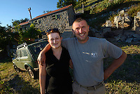 Horse managers and lodge owners, Petar Knezevic and wife, Paklenica National Park, Velebit Nature Park, Rewilding Europe rewilding area, Velebit  mountains, Croatia