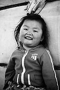 A young girl in rural Mongolia.