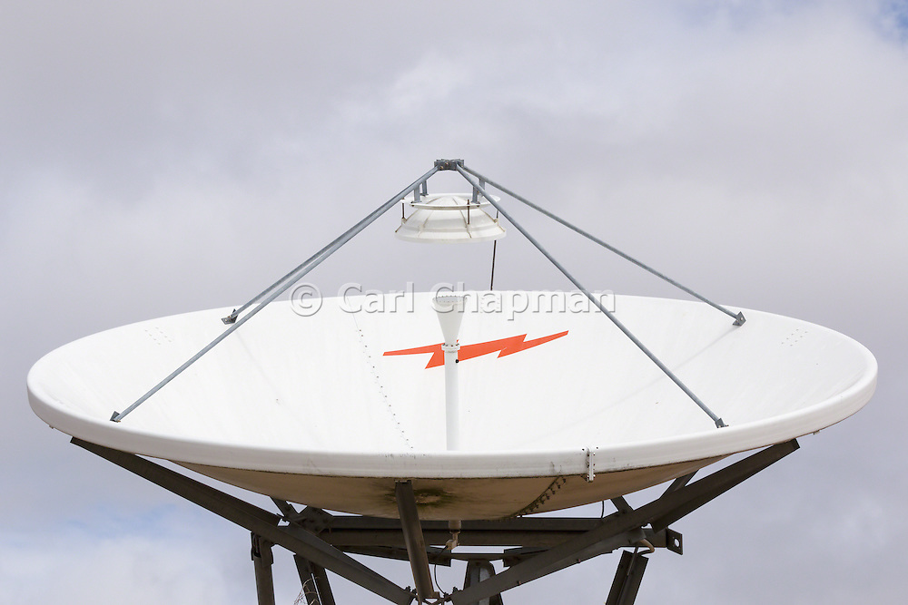 VSAT Satellite dish antenna at cellular communications site