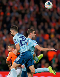 10-10-2019 NED: Netherlands - Northern Ireland, Rotterdam<br /> UEFA Qualifying round ­Group C match between Netherlands and Northern Ireland at De Kuip in Rotterdam / Memphis Depay #10 of the Netherlands, Craig Cathcart #20 of Northern Ireland