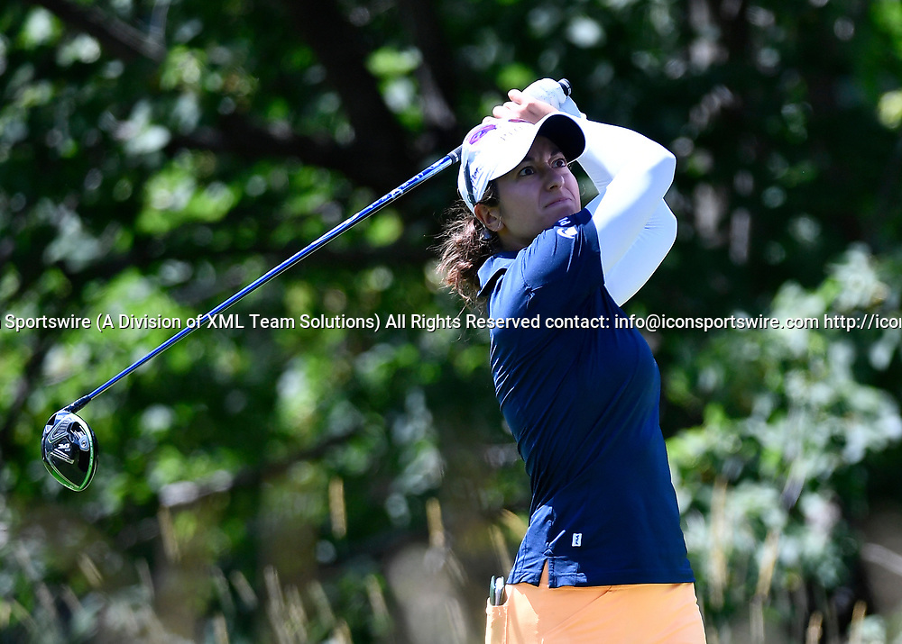 OLYMPIA FIELDS, IL - JULY 01: Marina Alex plays the ball from the fifth tee during the third round of the 2017 KMPG PGA Championship at Olympia Fields on July 1, 2017 in Olympia Fields, Illinois. (Photo by Quinn Harris/Icon Sportswire)